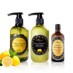 【芳香小舖】檸檬C嫩白沐浴乳&檸檬C嫩白身體乳&檸檬C潤白按摩精油